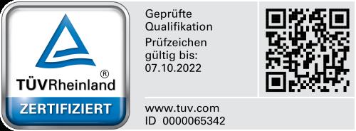 TÜV Zertifikat Externer Datenschutzbeauftragter